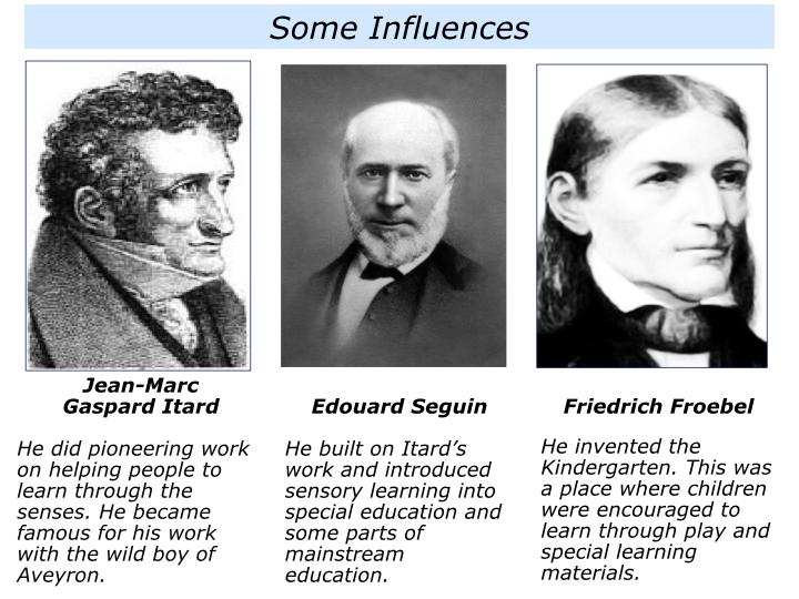 people who influenced maria montessori