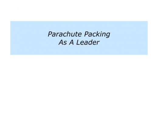 Slides P is for building a team of parachute packers.001