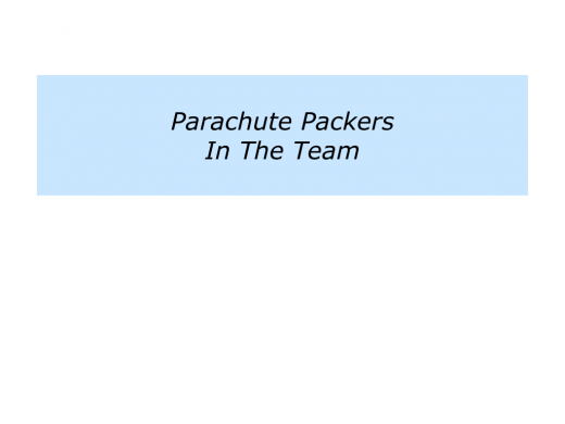 Slides P is for building a team of parachute packers.004