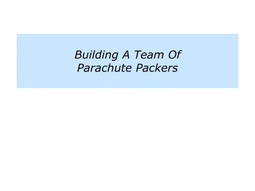 Slides P is for building a team of parachute packers.010