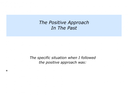 Slides P is for the Positive, Percentage and Paralysis Approaches.002