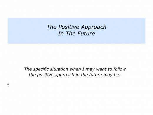 Slides P is for the Positive, Percentage and Paralysis Approaches.011