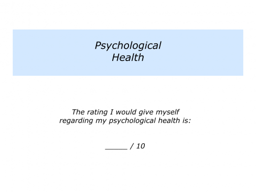 Slide P is for Physical, Psychological and Philosophical Health.004