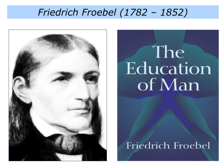 analysis of friedrich froebel s theory Froebel, friedrich — ▪ german educator froebel also spelled fröbel , in full friedrich wilhelm august froebel born april 21, 1782, oberweissbach, thuringia, ernestine saxony [now in germany] died june 21, 1852, marienthal, near bad liebenstein.