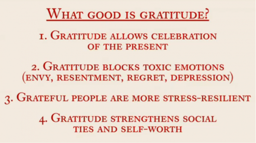 What Good Is Gratitude