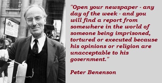 b is for peter benenson giving birth to amnesty international the