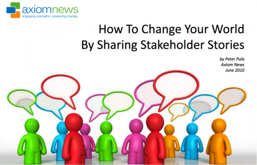 How to change the world through stakeholder stories
