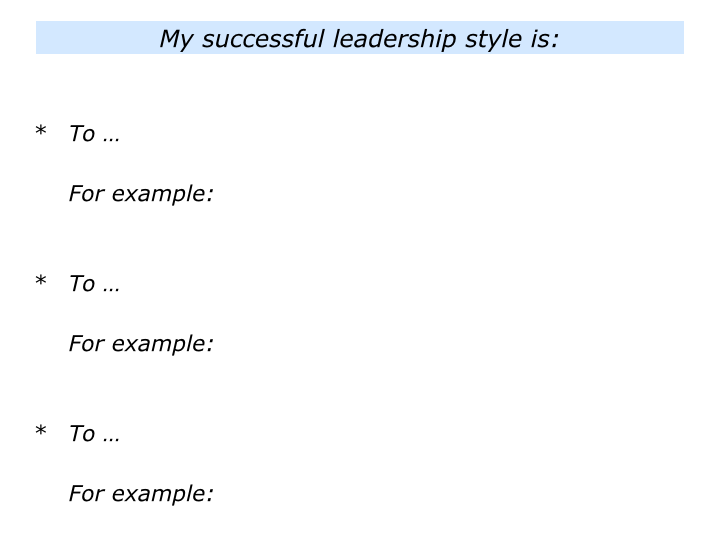 slides l is for my successful leadership style008 - How Would You Describe Your Leadership Style
