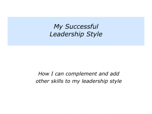 Slides L is for My Successful Leadership Style.013