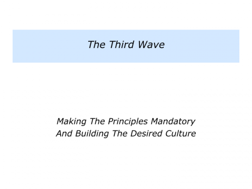 Slides W is for the Three Waves Approach.007