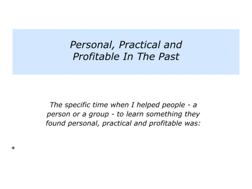 Slides personal, practical and profitable.002