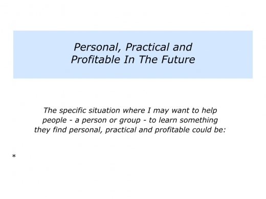 Slides personal, practical and profitable.006