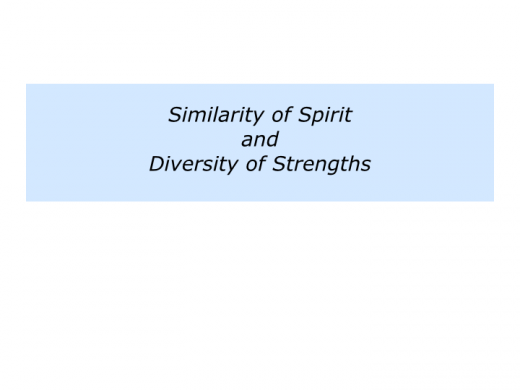 Slides S is for Similarity of Spirit and Diversity of Strengths.019