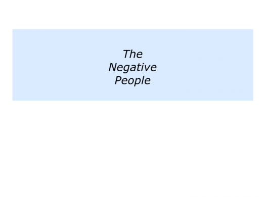 Slides building on the positive people.043