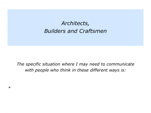 Slides communicating with architects, builders and craftsment.007