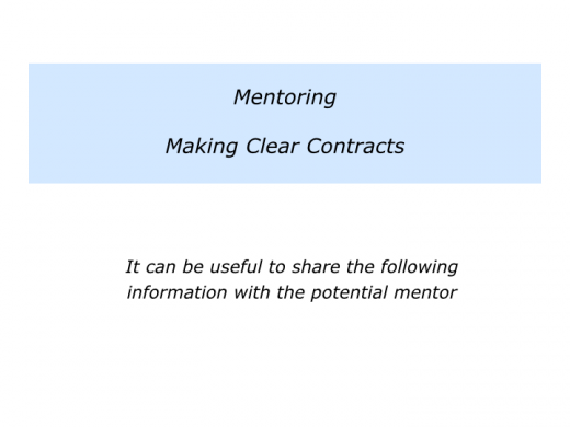 Slides M is for Choosing a Mentor and making good use of the mentoring sessions.003