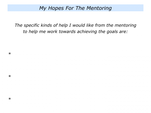 Slides M is for Choosing a Mentor and making good use of the mentoring sessions.006