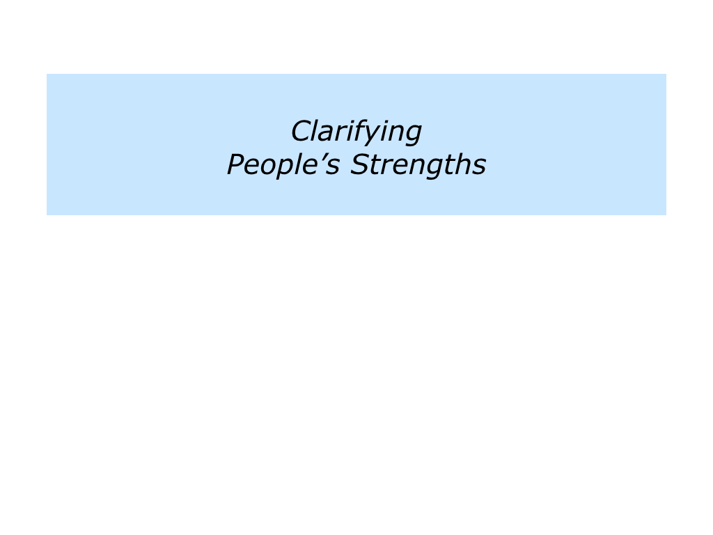 c is for co-ordinating people u0026 39 s strengths