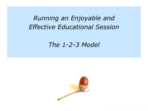 Slides running an enjoyable and effective educational session.001