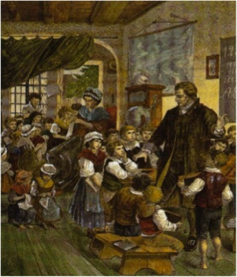 Heinrich with many children