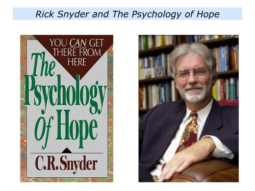 the psychology of hope snyder pdf