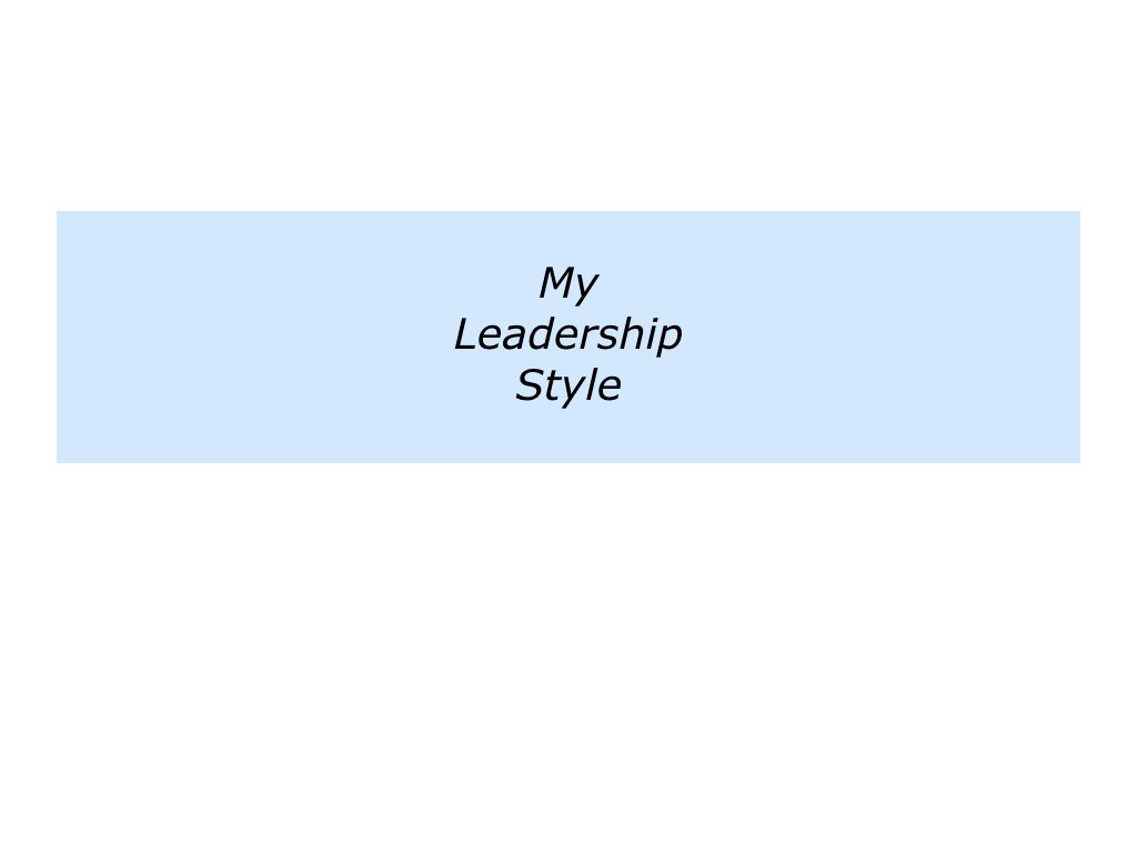 Leadership styles of osim international