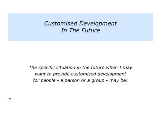Slides customised development.007