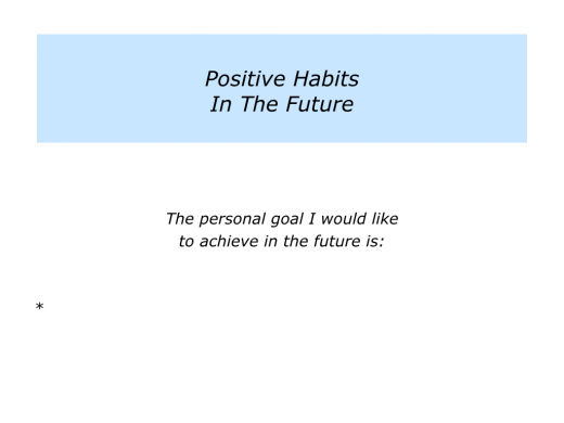 Slides positive habits.006