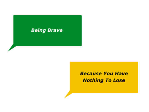 Slides Being Brave Because You Have Nothing To Lose.001