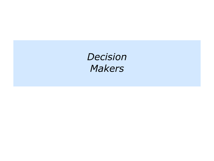 how to raise good decision makers
