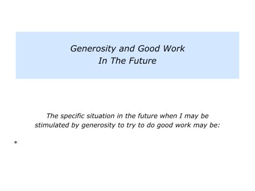 Slides Generosity Being The Stimulation For Doing Good Work.007