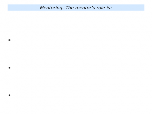M is for Mentoring Programme In Your Organisation.008