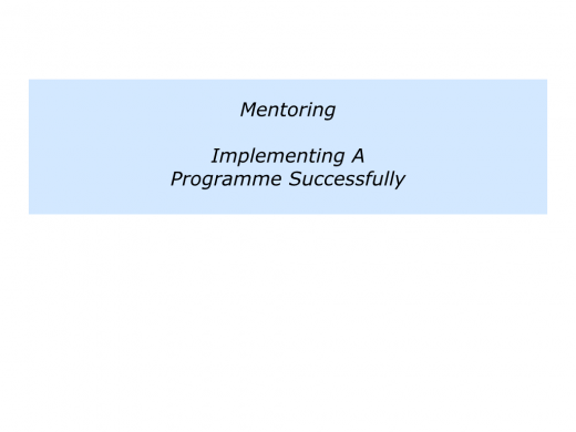 M is for Mentoring Programme In Your Organisation.017