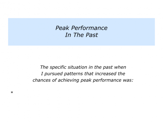 Slides Pursuing Patterns for Peak Performance.005