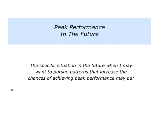 Slides Pursuing Patterns for Peak Performance.008