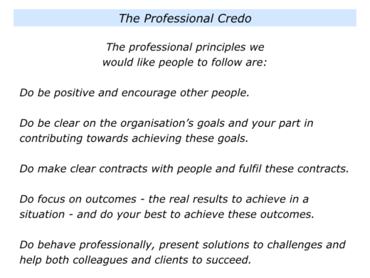 C Is For Introducing A Professional Credo The Positive
