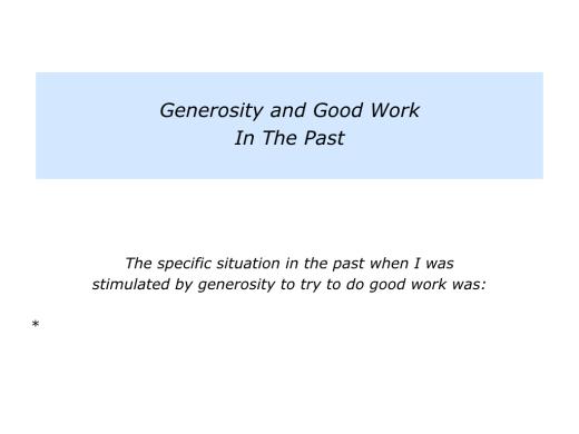 Slides Generosity Being The Stimulation For Doing Good Work.003
