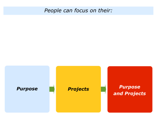 Slides People can focus on their Purpose, Project or Purpose and Projects.001