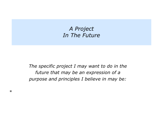 Slides People can focus on their Purpose, Project or Purpose and Projects.005